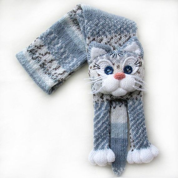 Double-sided crochet and chiffon cat scarf | yarn isomerase | 570x570