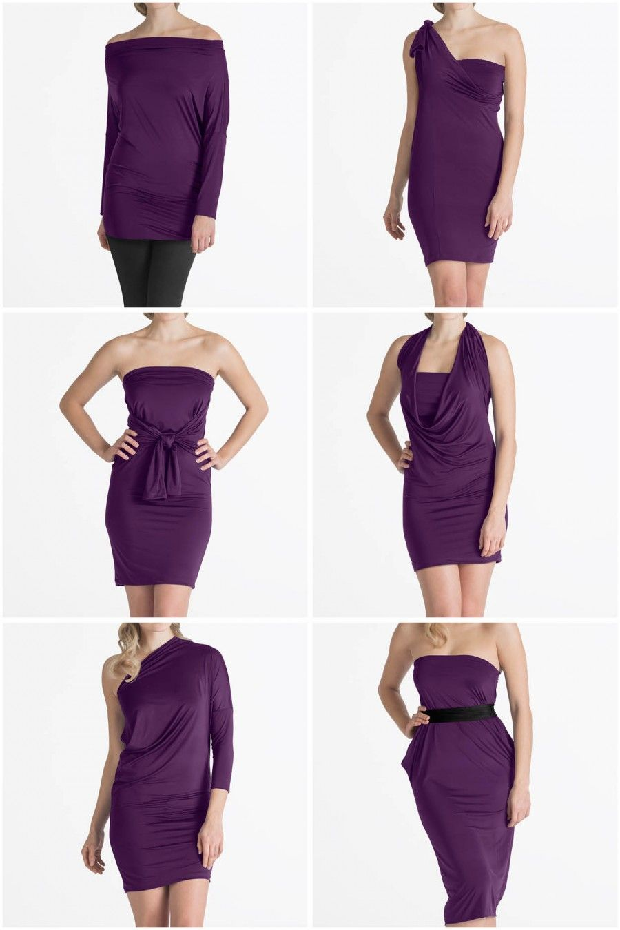 convertible dresses and accessories   long sleeve wrap midi