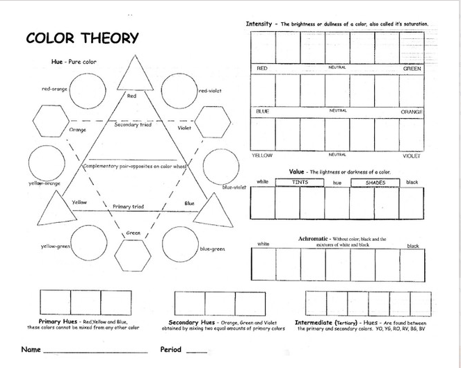 Color Theory Lessons Special thanks to Ted Mallory one