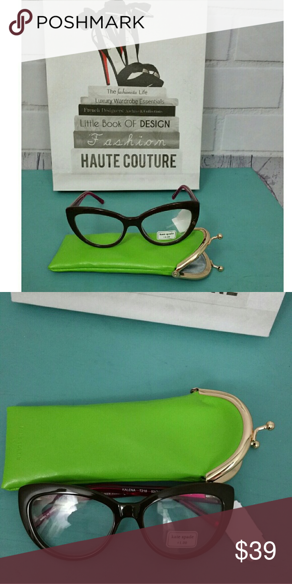 2cf28480cd2 NWT  Kate Spade Cat Eye 1.0 Readers These are adorable and chic little  cheaters that will help you see better and look good. Red brown cat eye  shape with ...