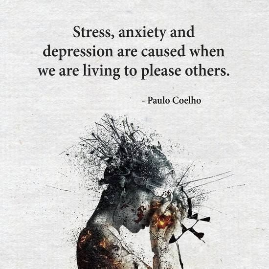Inspirational Quotes About Depression: Positive Quotes : Stress Anxiety And Depression Are Caused