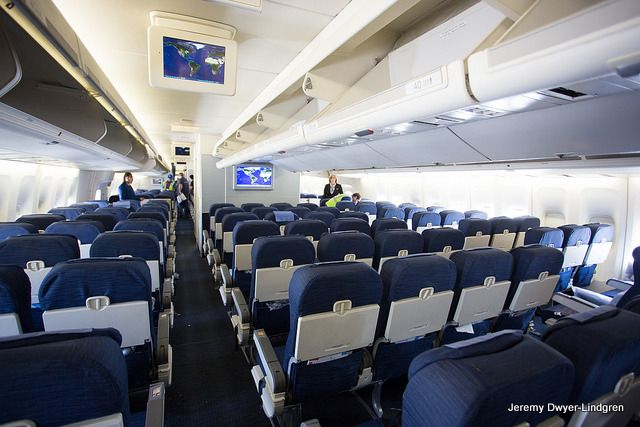 Flying A United Boeing 747 Domestically On The Upper Deck