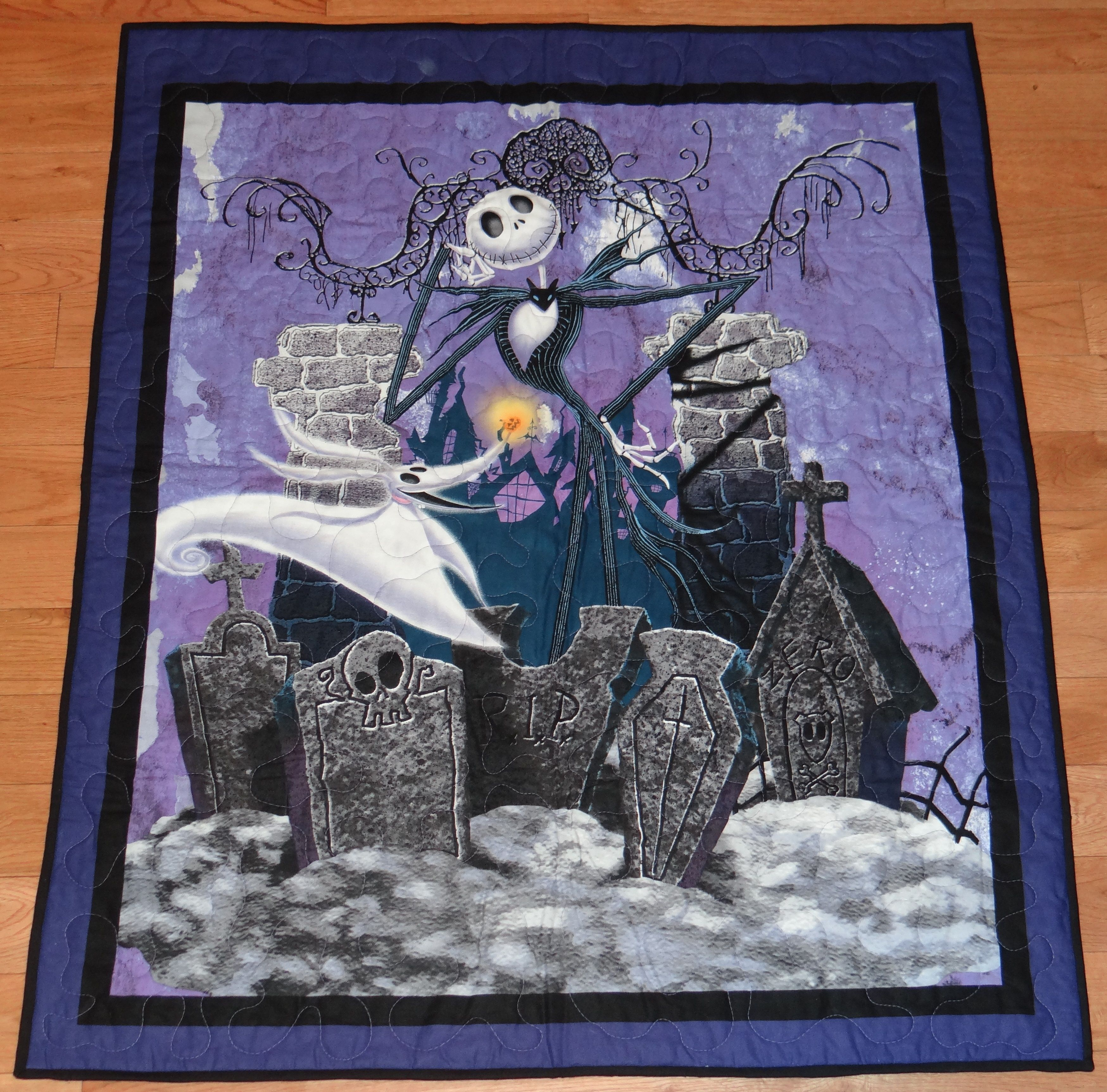 One Of My New Favorite Panel Quilts Nightmare Before