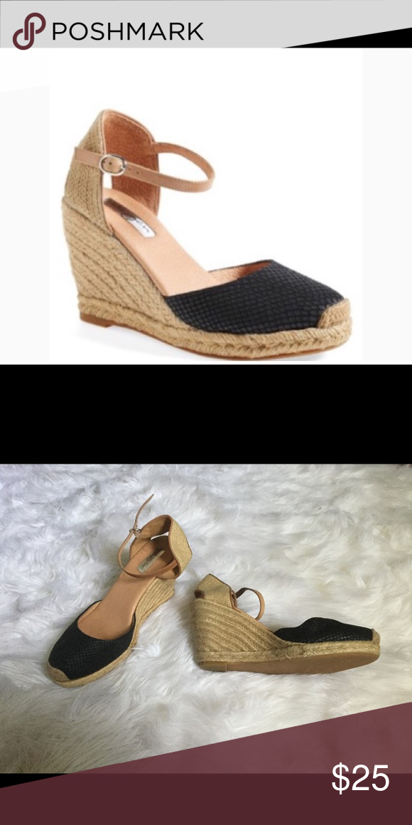d86a8380c8ac Halogen Sandra Black and Tan Wedge Espadrilles Halogen  Sandra  Wedge  Espadrille (Women) at Nordstrom Rack Take your espadrille collection to new  heights ...