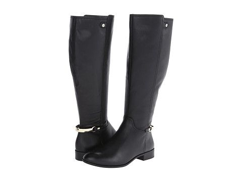 Anne Klein AKKacey Wide Calf Black Leather - Zappos.com Free Shipping BOTH  Ways