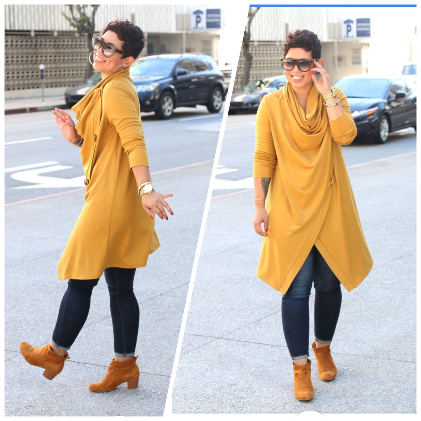 DIY Cowl Neck Sweater   Gap jeans   Aimee Pull-on boots | FASHION ...