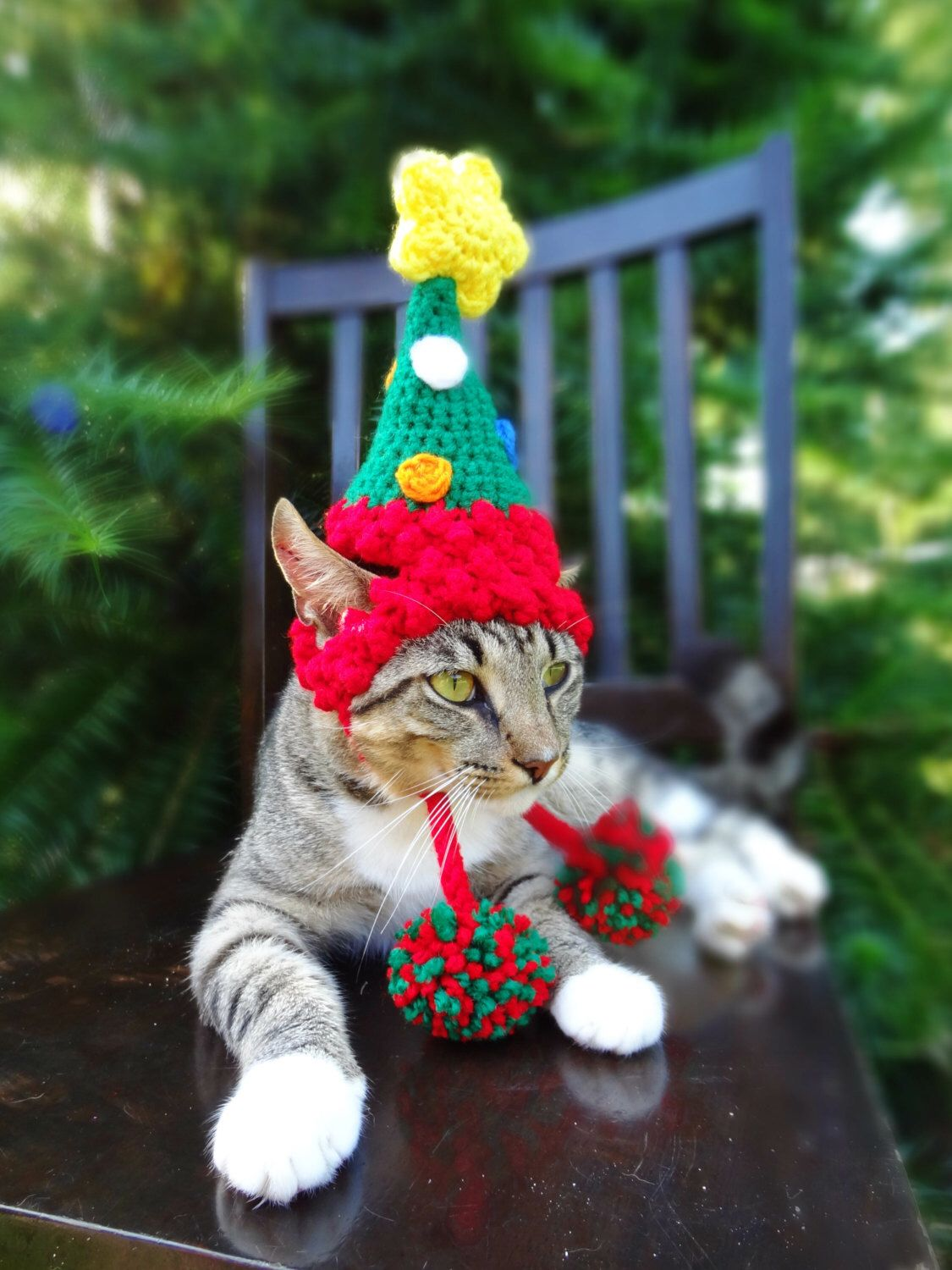 Christmas Cat Costume Hat The Christmas Tree Hat For Cats And Small Dogs Christmas Costume For Pets By Ih Christmas Cats Christmas Dog Costume Pet Costumes