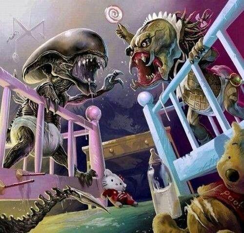Alien Baby V Predator Baby | Pick me up :-) | Alien vs