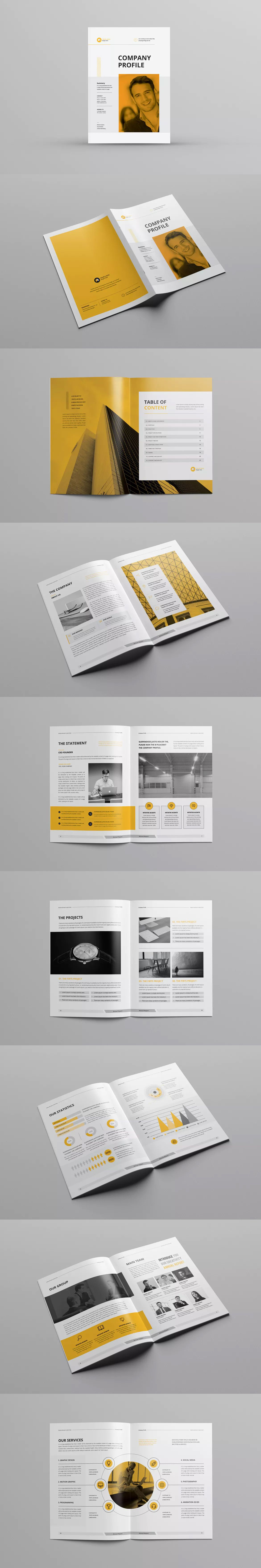 Company Profile Template InDesign INDD - A4   Company Profile ...