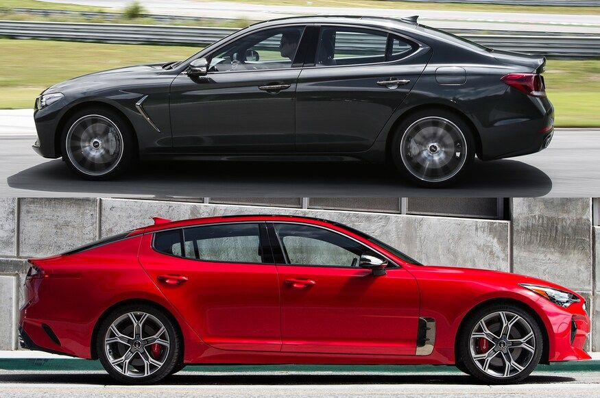 2019 Genesis G70 Vs 2018 Kia Stinger What S The Difference In 2020 Kia Stinger Kia New Lexus