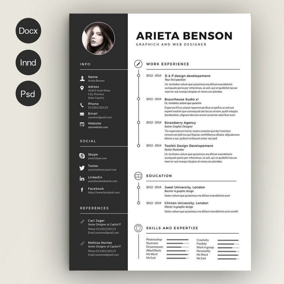 67 Infographic Resume Ideas For Examples Infographic Resume Indesign Resume Template Downloadable Resume Template