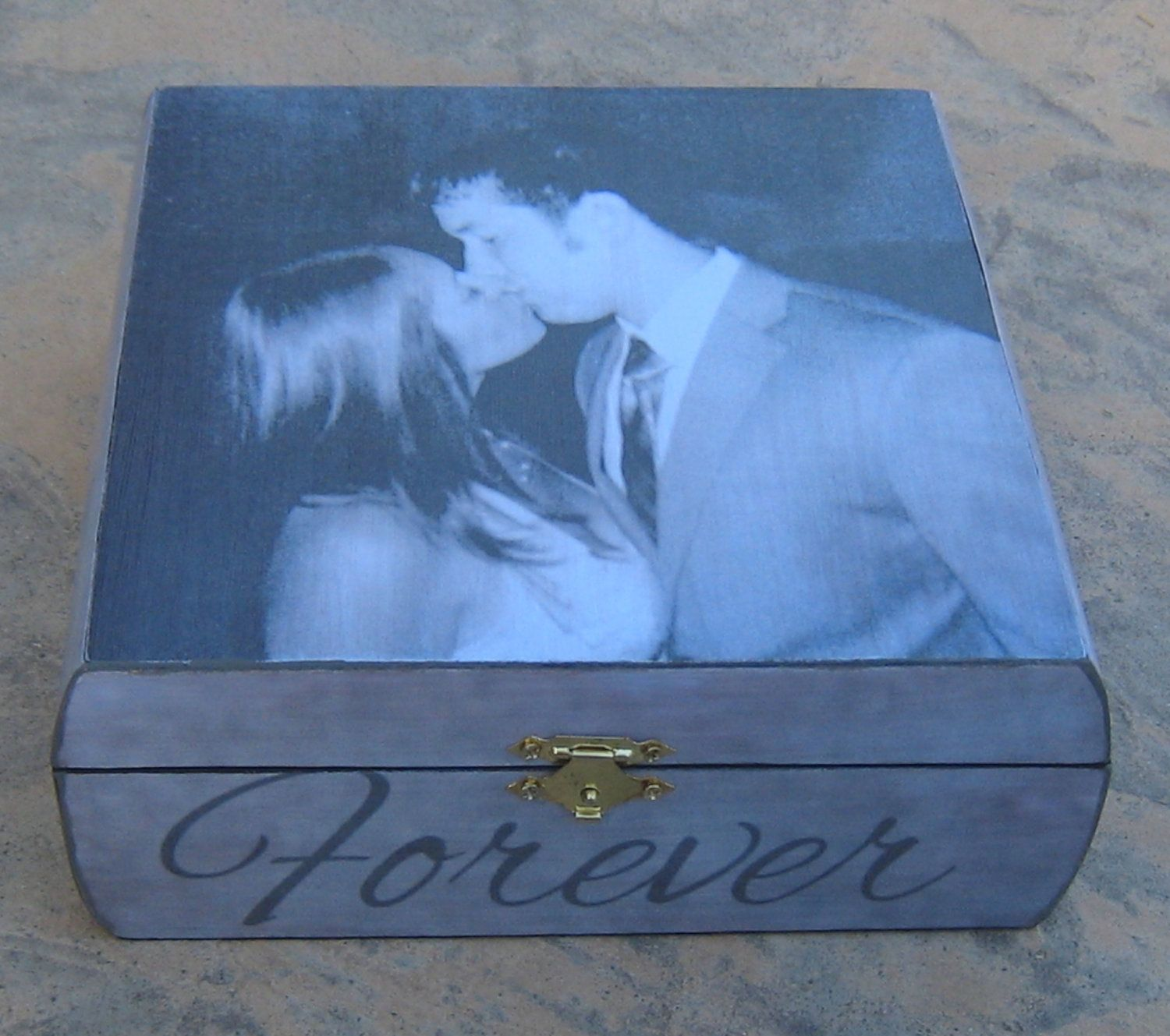 Wedding Photo Keepsake Box Unique Engagement Gift Personalized