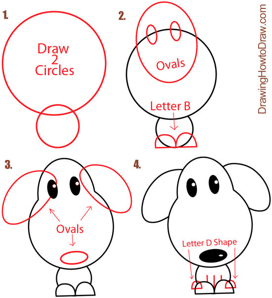 How to draw a puppy dog with circles disegni pinterest draw how to draw a puppy dog with circles ccuart Image collections