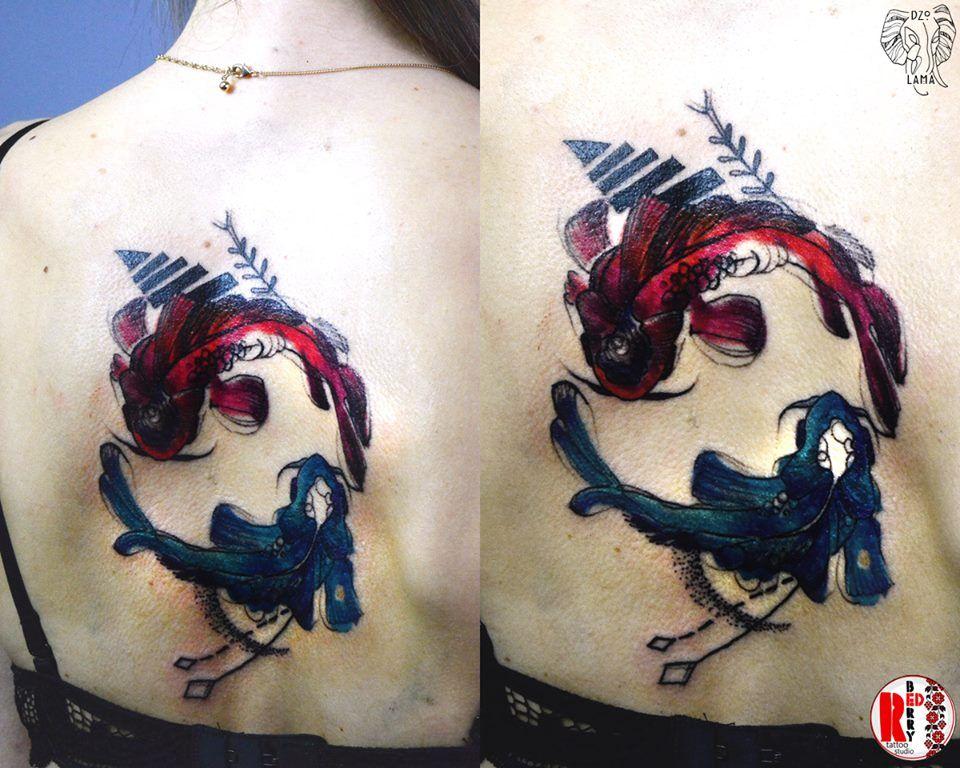 Redberry Tattoo Studio Wrocław #tattoo #inked #ink #studio #wroclaw #warszawa #tatuaz #dresden #redberry #katowice #amazingtattoo #dzolama #redberrytattoostudio #amazingtattoo #poland #berlin #sketch #delicate #kwiaty #flowers #aquarel #akwarela #fish #ryba #rybka