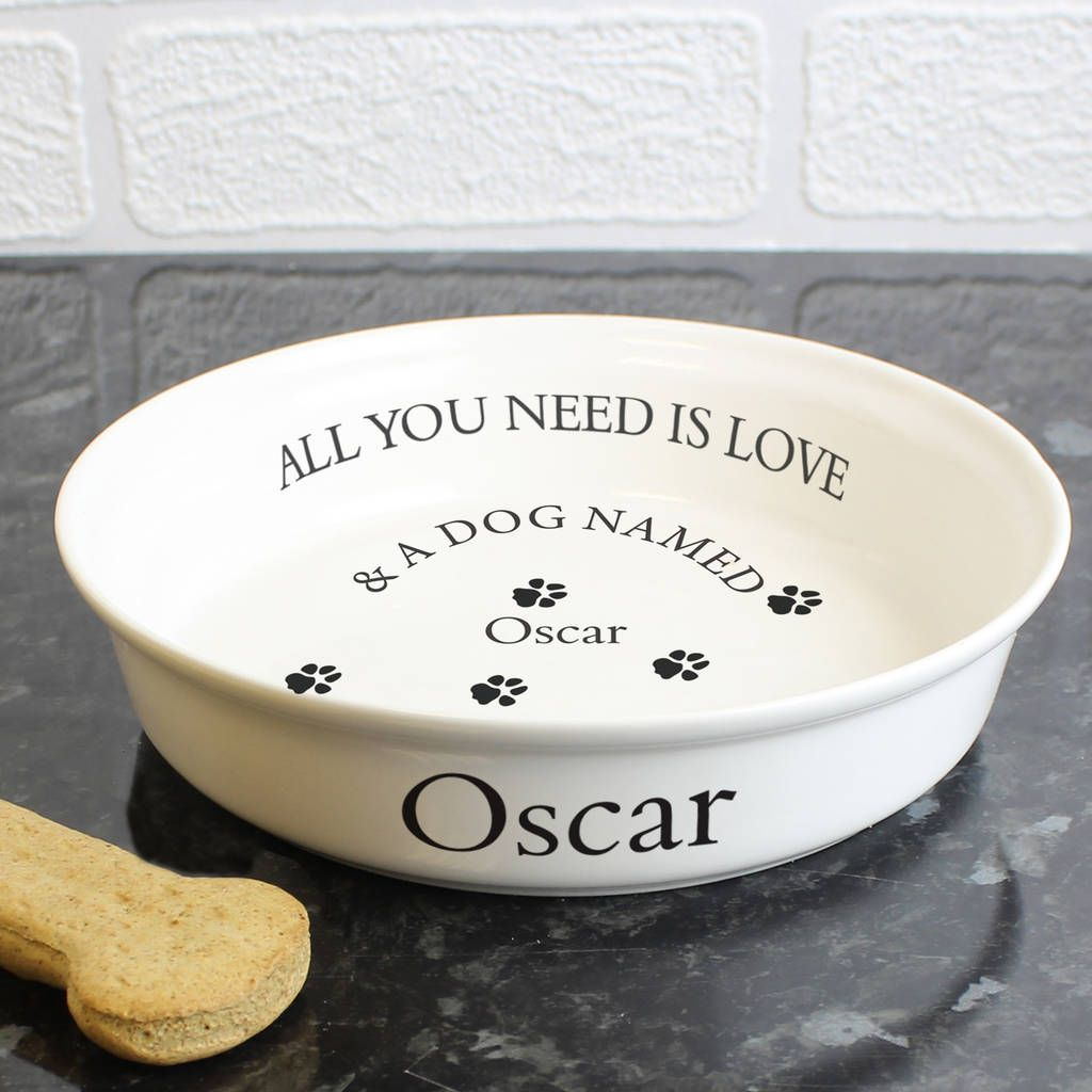 Personalised Dog Bowl Dog Bowls Ceramic Dog Bowl Pet Gifts