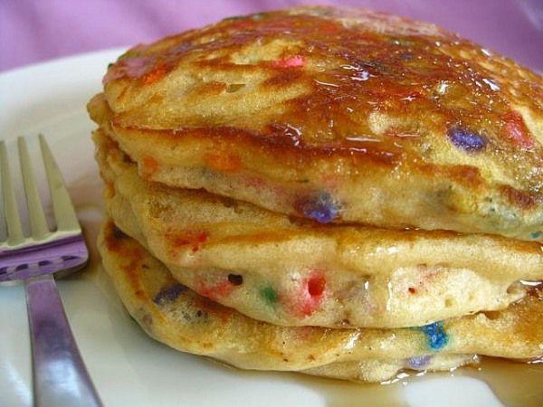 Birthday Pancakes With Cake Mix