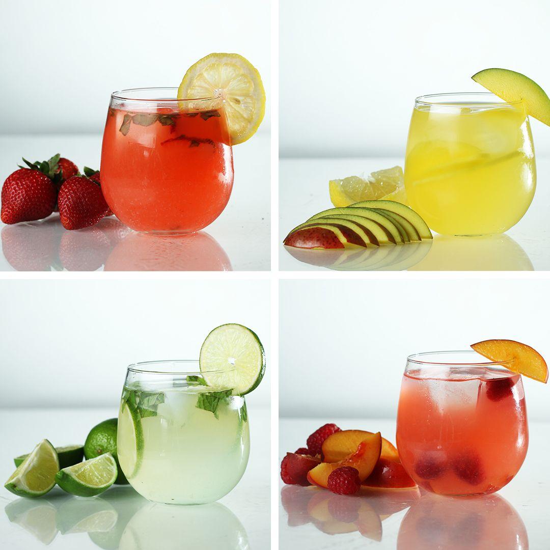 Spiked Lemonade 4 Ways