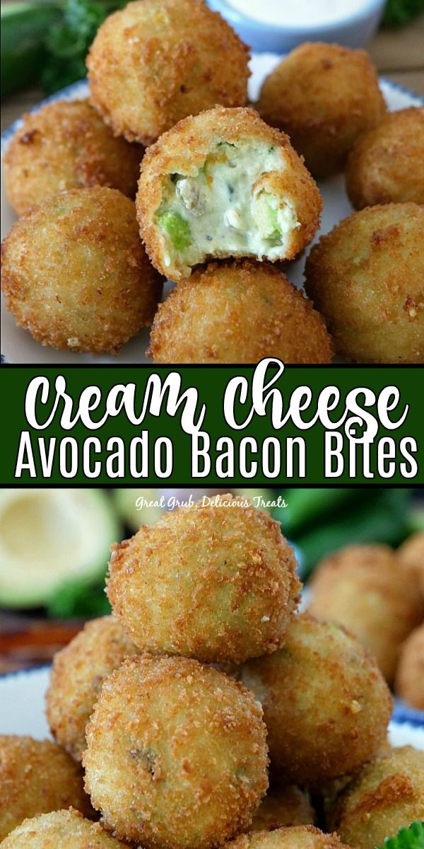 Cream Cheese Avocado Bacon Bites are loaded with cream cheese, avocados, bacon, cheese and fried to a golden brown.