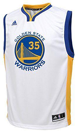 e5cc4e4714608 Adidas Kevin Durant Golden State Warriors #35 NBA Youth Replica Home ...