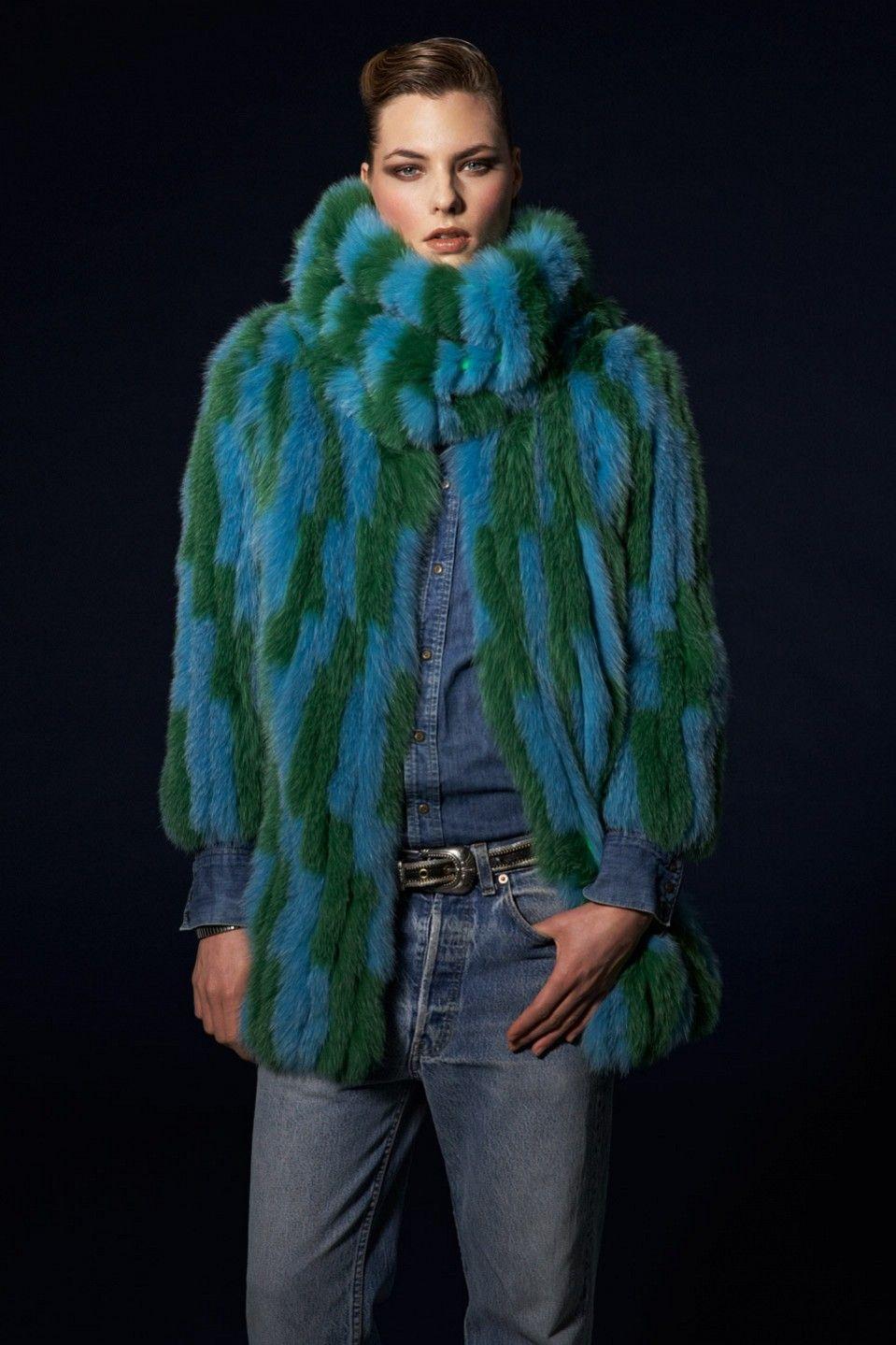 Hockley | Splash Collection | Gloriosa fox coat | £2,111 | Worn with Freesia snood