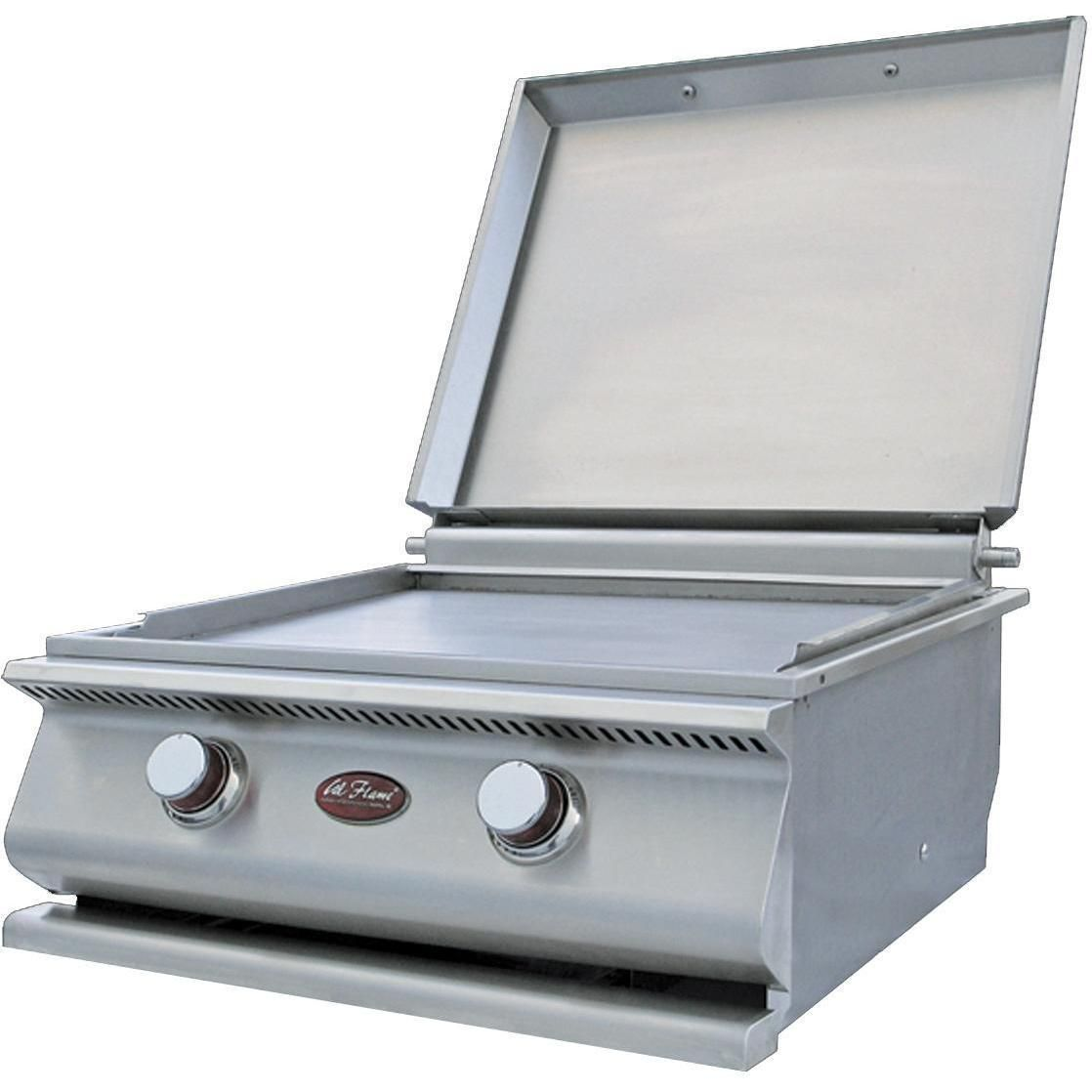 Cal Flame 24 Inch Built In Stainless Steel Natural Gas Hibachi Griddle Gas Grill W Removable Stainless Steel Cover Ships As Propane With Conversion Fittings Cal Flame Hibachi Grill Outdoor Kitchen Design