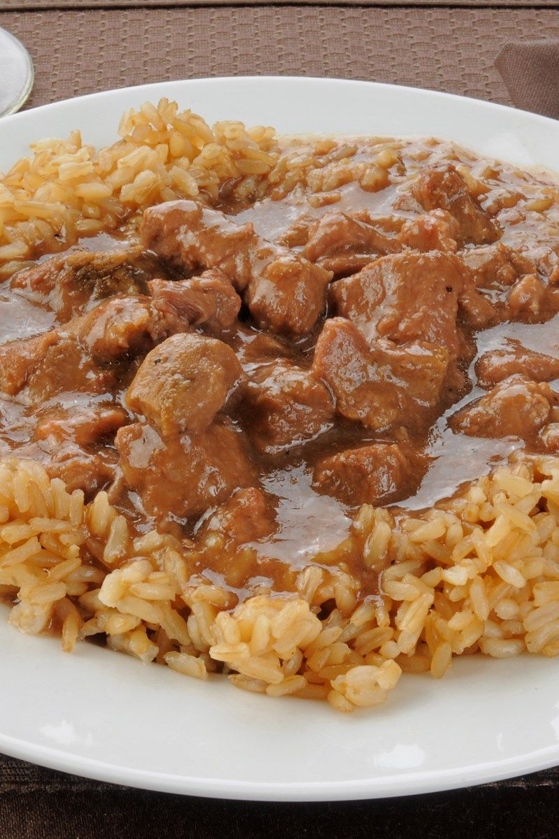 Beef Tips And Rice Dinner Recipe With Onion Garlic Sirloin Tip Steak Flour Beef Broth Soy Sauce W Beef Tips And Rice Beef Recipes Rice Recipes For Dinner