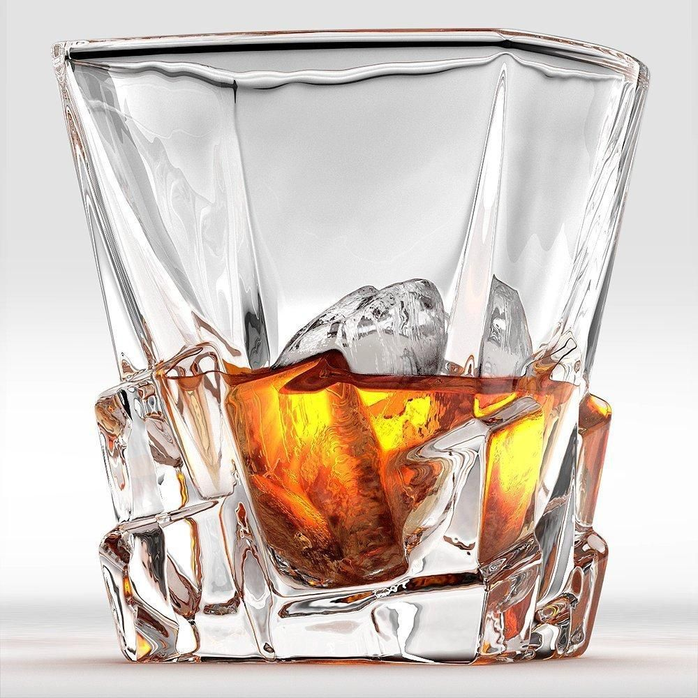 Crystal Whiskey Rocks Glass 300ml Old Fashioned Glass Tumbler