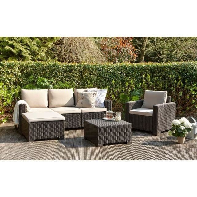 Salon de jardin moorea 4 pieces aspect rotin Allibert Jardin | La ...