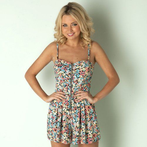 d2a8b7ddc09 Lipsy - Zip Front Playsuit in multi Jumpsuits Women - List Price  £47.99 -  Buy New  £24.99