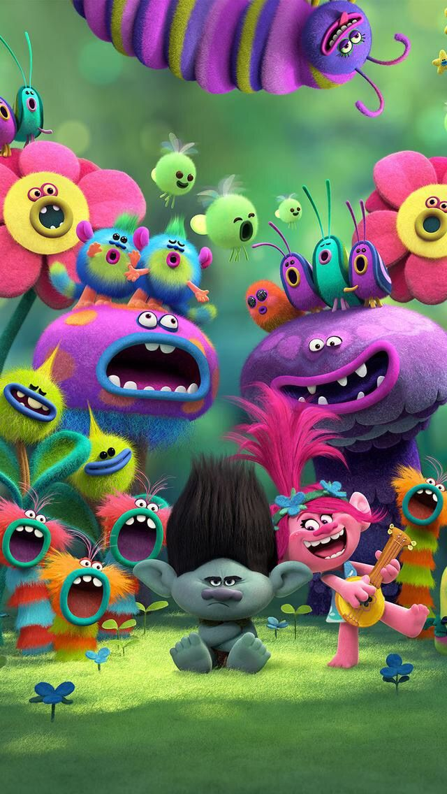 Trolls! it is a really good cool and will totally make you happy