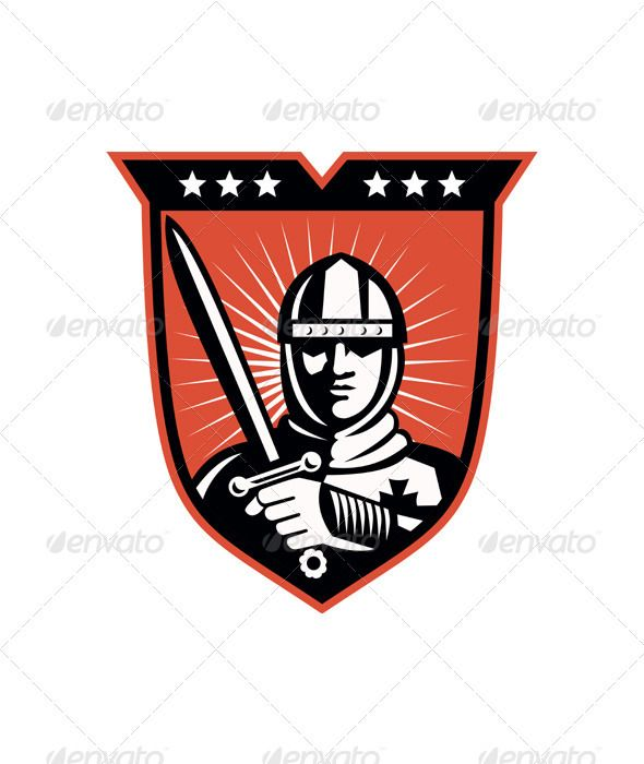 Realistic Graphic DOWNLOAD (.ai, .psd) :: http://vector-graphic.de/pinterest-itmid-1002043508i.html ... Knight Crusader With Sword Shield ...  armor, crusader, illustration, knight, male, man, medieval, retro, shield, soldier, star, sword, warrior  ... Realistic Photo Graphic Print Obejct Business Web Elements Illustration Design Templates ... DOWNLOAD :: http://vector-graphic.de/pinterest-itmid-1002043508i.html