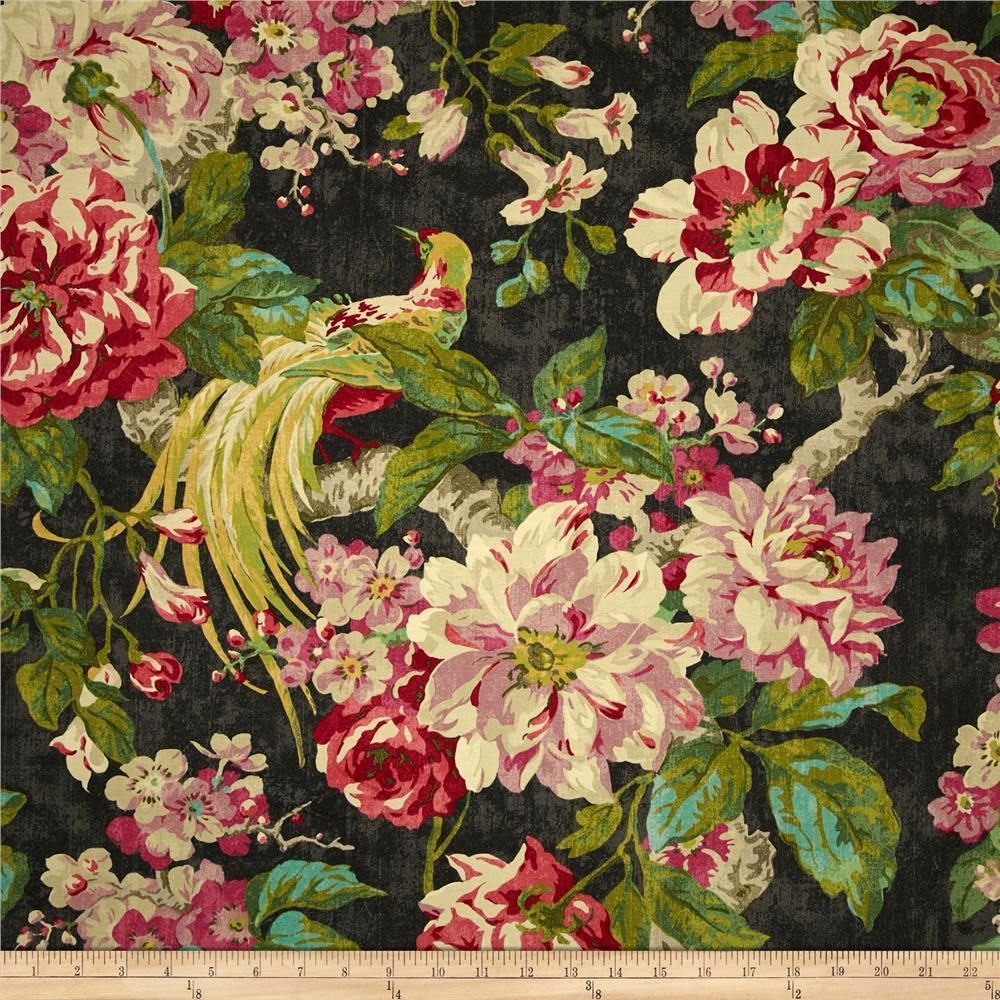 4 Drapes Waverly S Engagement Garden Collection Must See Bird Of Paradise Floral Fabric Decor Floral Drapery Fabric Floral Drapery