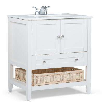 Freestanding 30 Inch Vanities Sink In Center Bathroom Vanities Bath The Home Depot Marble Vanity Tops Bath Vanities Simpli Home