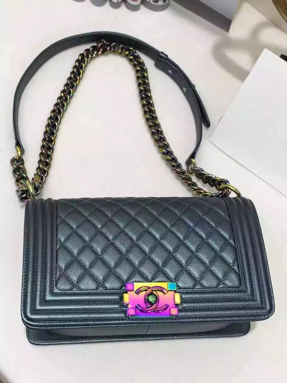 95bd9fc1f10d Boy Chanel Quilted Flap Bag With Oil Slick Clasp. (click the pic to get  more information)