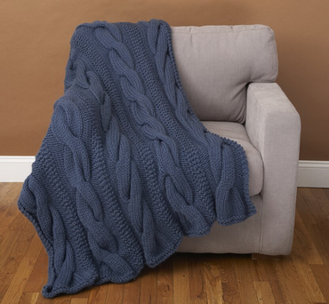 Cable Comfort Throw: #knit #knitting #free #pattern # ...