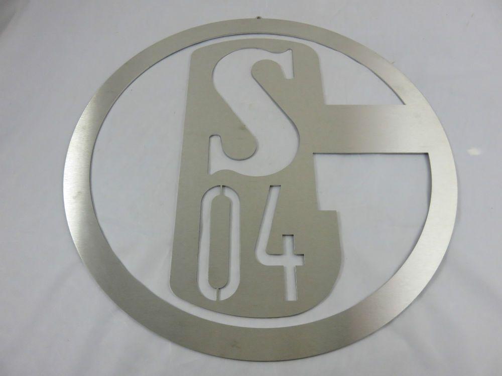 Edelstahl Schild S04 FC Schalke 04 - Metallschild Groß 40 cm | Sport ...