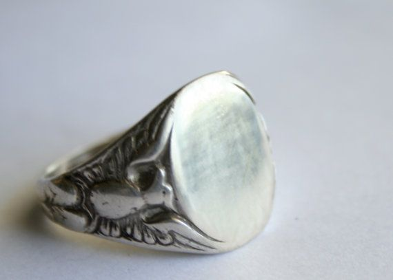 Sterling Silver Oval Engravable Ring Size 11 1/4 by Vrendon, $49.00