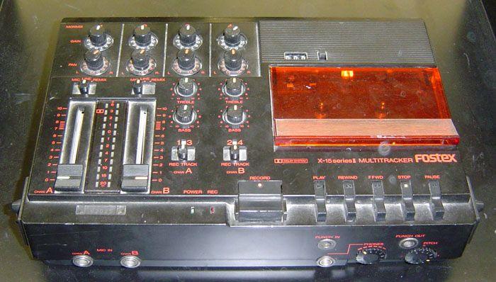 Fostex X15 Four Track Where It All Began Music Recording Studio Recorder Music Vintage Music