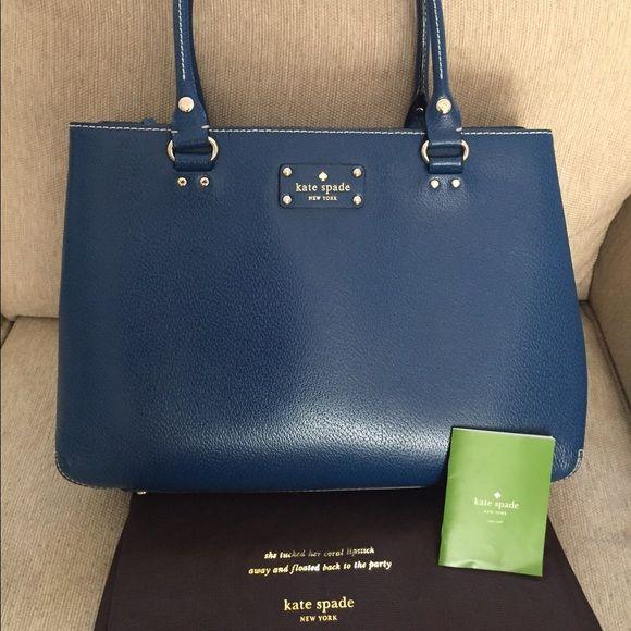 Kate Spade Wellesley Elena Dark Cobalt Blue Bag