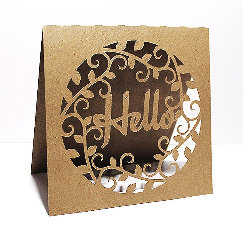 FREE SVG + cut files helloLeafy Frame Card … Pinteres…