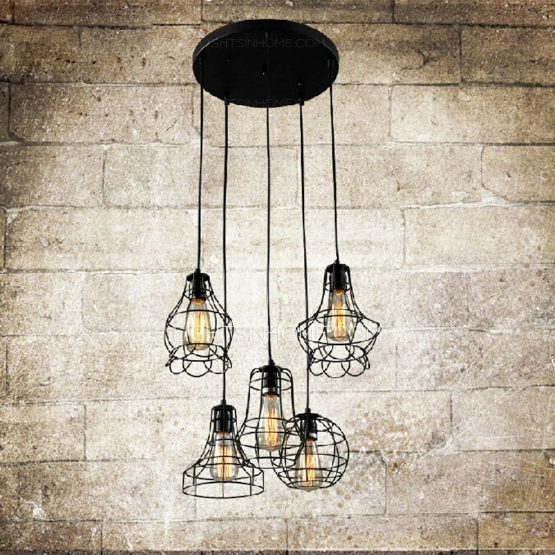 Industrial hanging lights are composed of wrought iron ceiling plate industrial hanging lights are composed of wrought iron ceiling plate e26e27 screw base aloadofball Choice Image