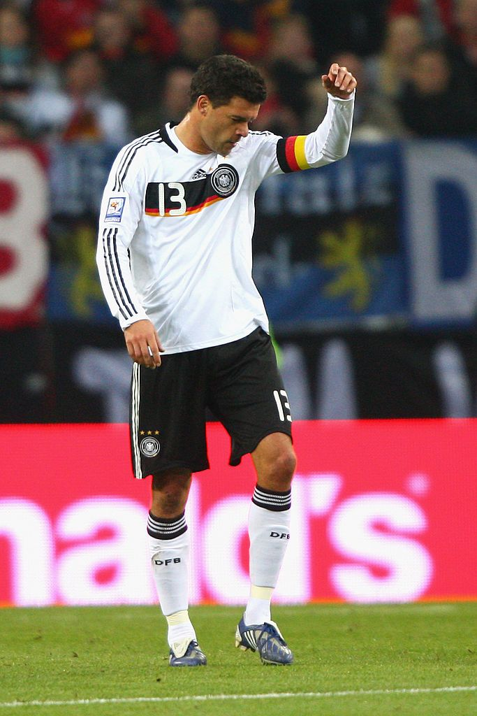 Hamburg Germany October 14 Michael Ballack Of Germany Looks Dejected After The First Goal During The Fifa 2010 World Michael Ballack Germany Soccer Players