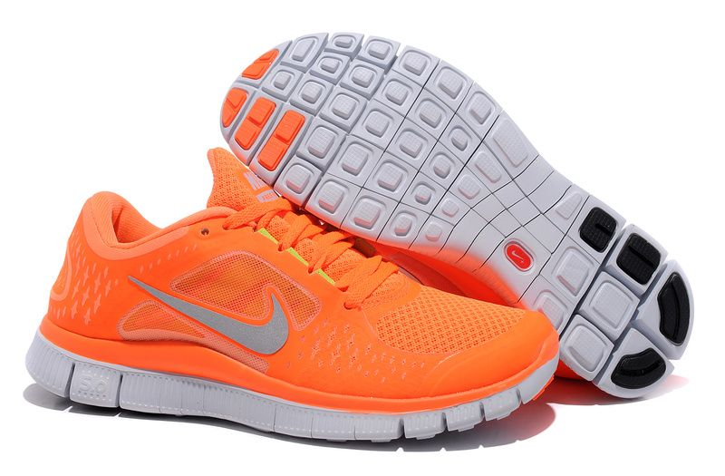Nike Free Run 3 Womens Vivid Orange Silver