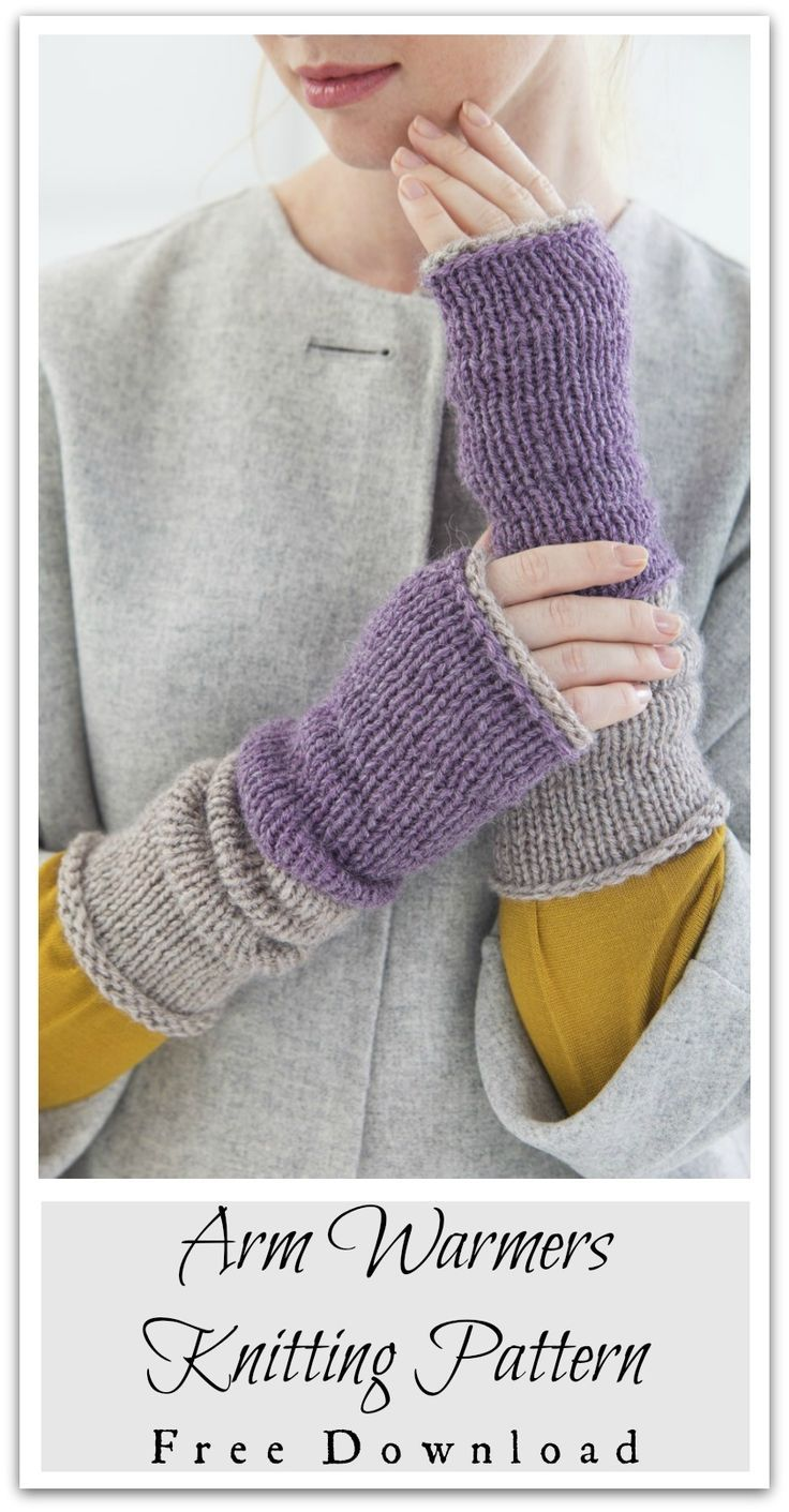 Mind the gap at the edge of your cuffs! Our easy knit arm warmers ...