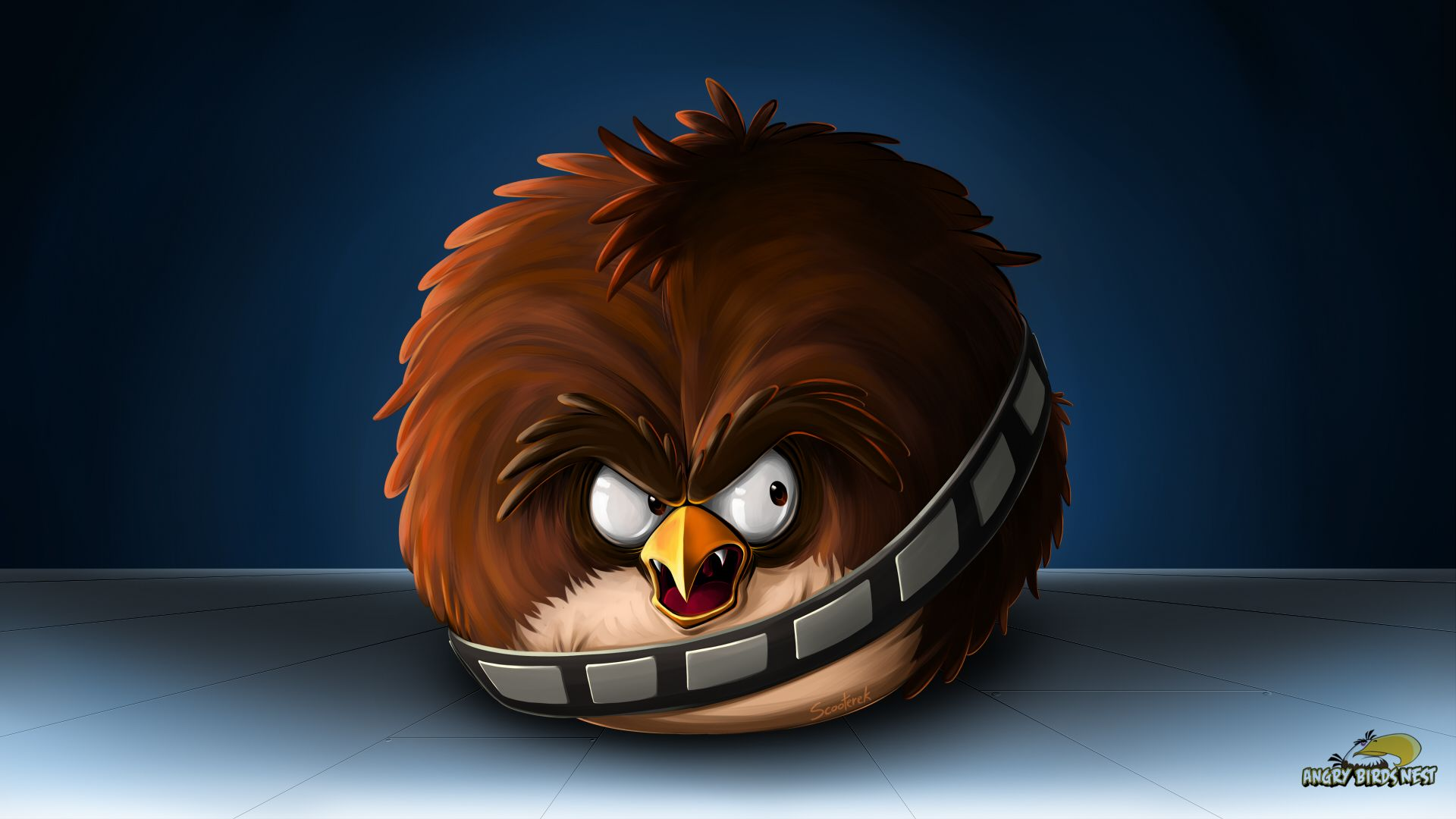 Angry Birds Star Wars Chewbacca Desktop Wallpaper! | angry ...
