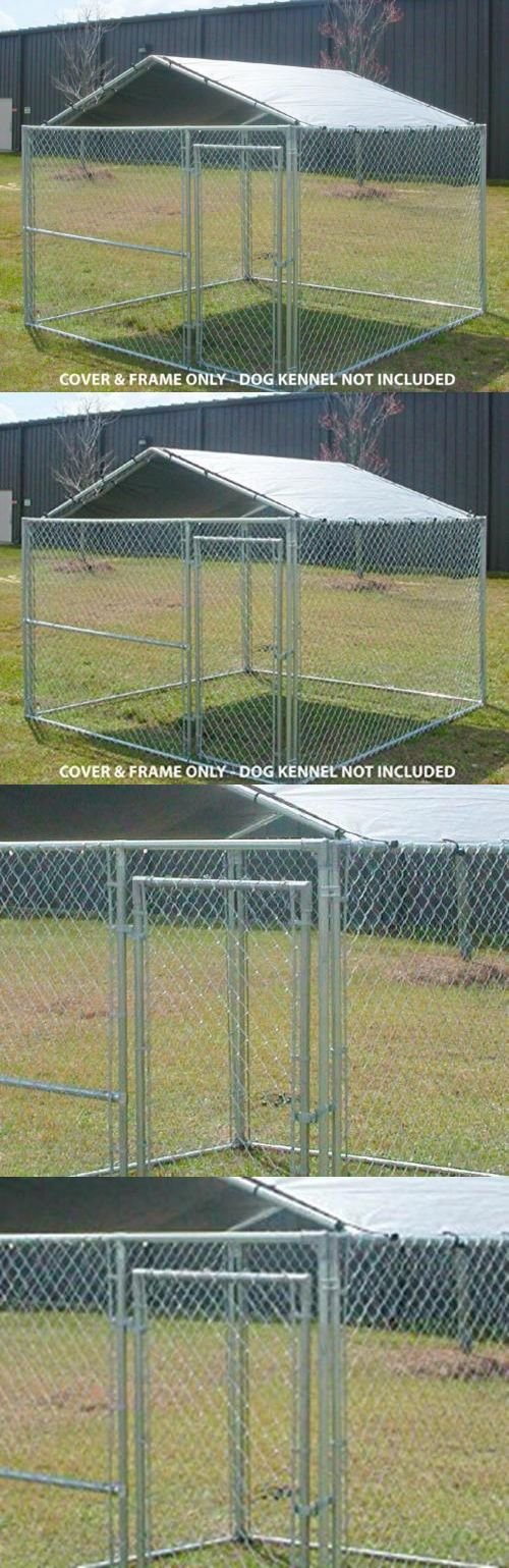 Fences And Exercise Pens 20748 Outdoor Dog Kennel Cover 10x10 Large Steel Roof Pen Cage Fence Shade For Pet Dog Kennel Cover Outdoor Dog Dog Kennel Outdoor