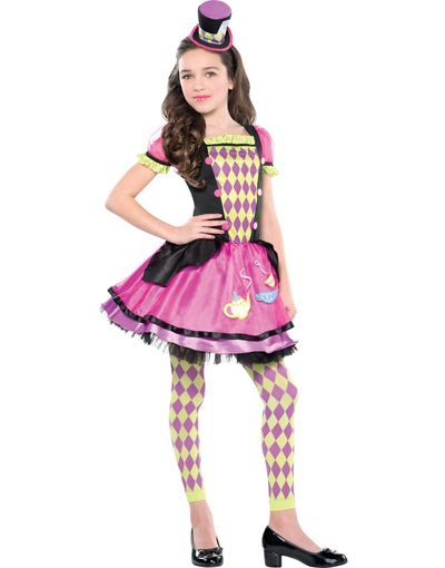 Girls Miss Mad Hatter Costume - Party City | Wonderland Costumes ...