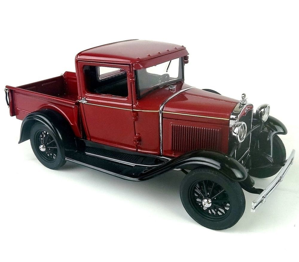 danbury mint 1931 red ford model a pickup truck die cast car 1 24 scale danbury mint ford. Black Bedroom Furniture Sets. Home Design Ideas