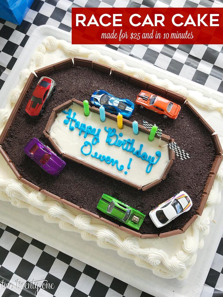 Race Car Cake A Costco Cake Hack in 2020 Race car