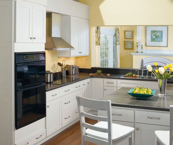 Alpine White Shaker Style Kitchen Cabinets By Homecrest
